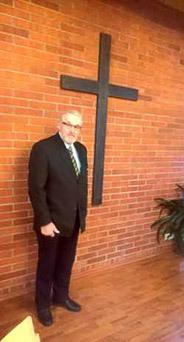 Adventtina 2016 otettiin Pohjois-Porin Leijonien tekemä risti käyttöön kirkossamme Martintalossa